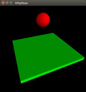 Simulation of Falling ball in vpython