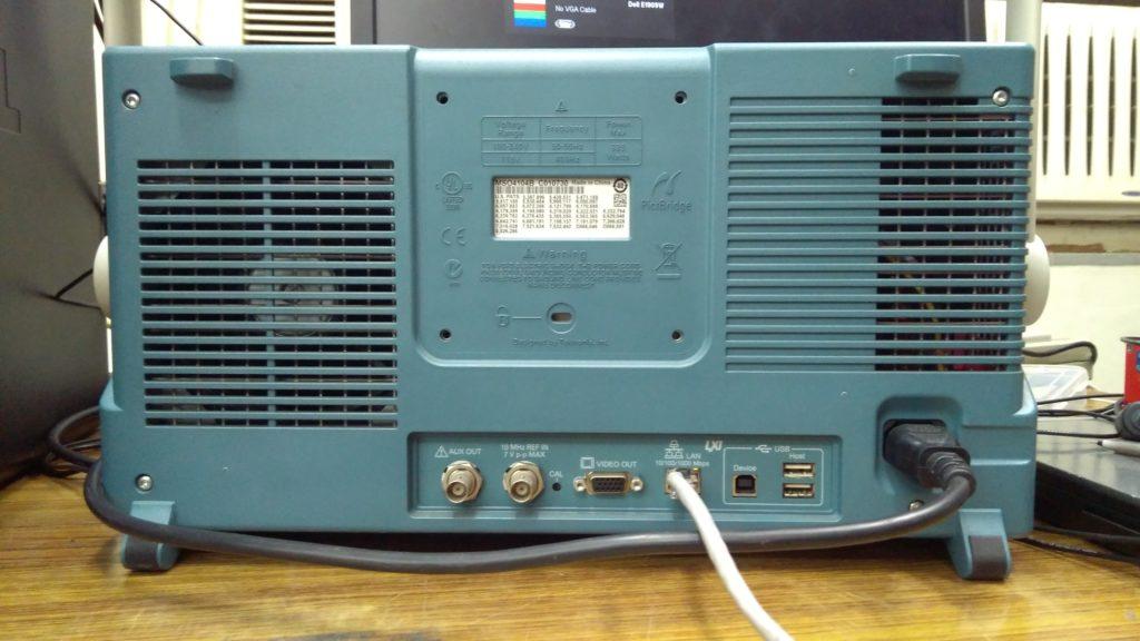 Oscilloscope LAN Connection