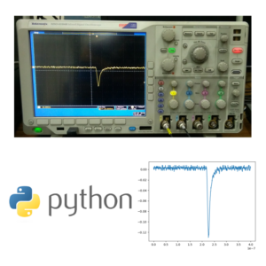 Oscilloscope data taking using Python